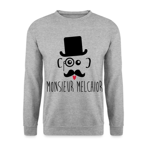 monsieur melchior black - Sweat-shirt Unisexe