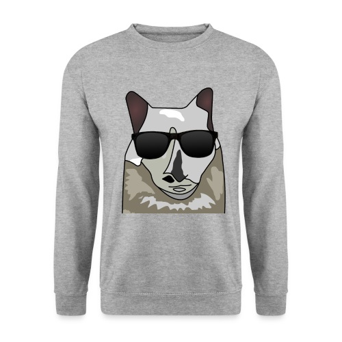 Katze mit Sonnenbrille - Unisex Pullover