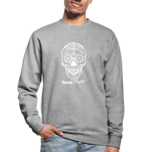 Skull & Logo white - Unisex Pullover