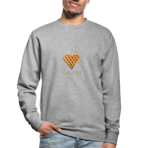 i love gaufre - Sweat-shirt Unisexe