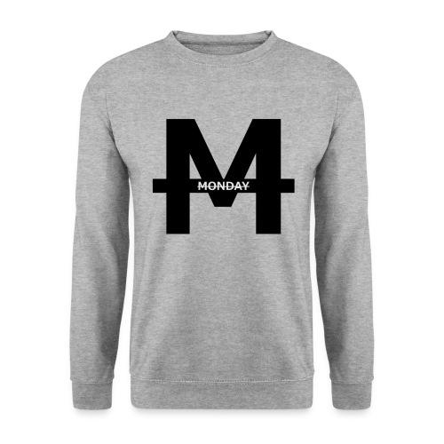 Monday Logo M transparent GROß png - Männer Pullover