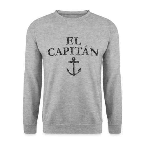 El Capitan Anker (Vintage Schwarz) Kapitän Käpt'n - Unisex Pullover