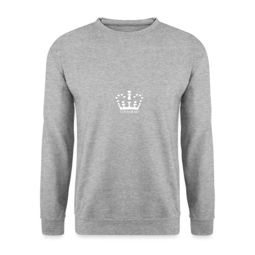 White Lovedesh Crown, Ethical Luxury - With Heart - Men's Sweatshirt
