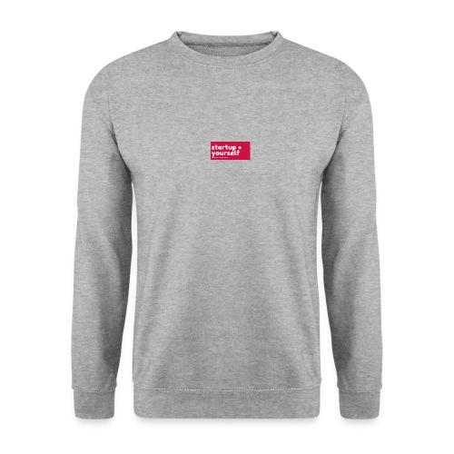 Red White Fashion Logo startup yourself motivation - Männer Pullover