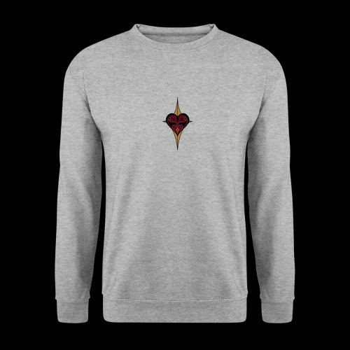 Coeur rouge royal - Sweat-shirt Unisex