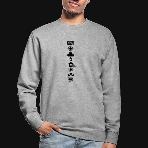 Weissabgleich Symbole Vertikal - Unisex Pullover