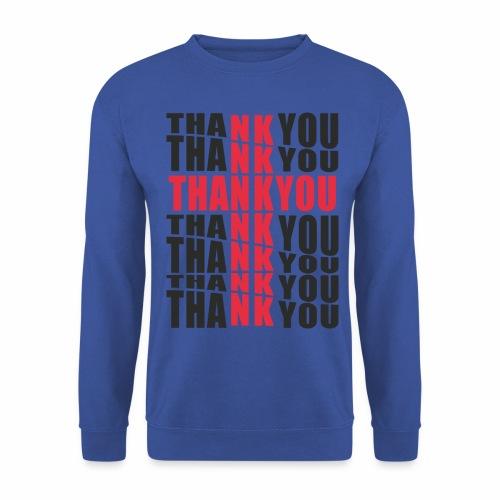 Motyw z napisem Thank You - Bluza męska
