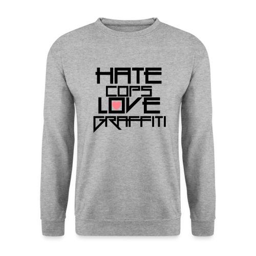 hate cops love graffiti black png - Männer Pullover