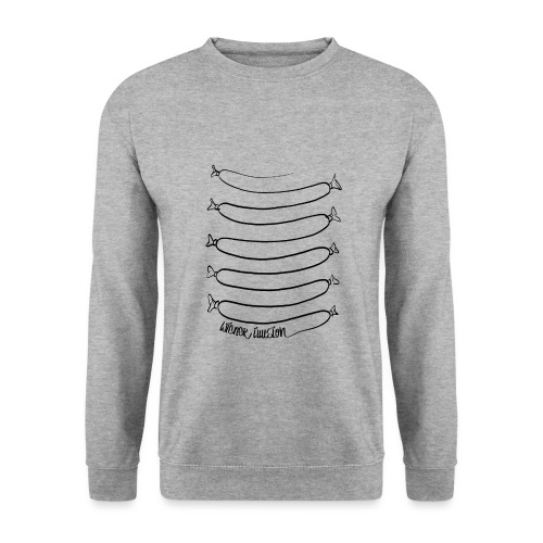 Wiener Illusion (schwarz auf weiß) - Männer Pullover