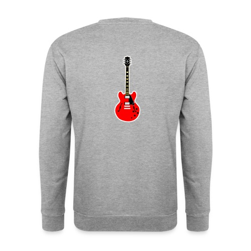 Guitare dos / Vully Blues classique poitrine - Unisex Pullover