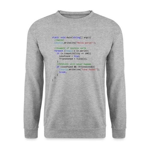 Love seen by a C# programmer - Felpa unisex