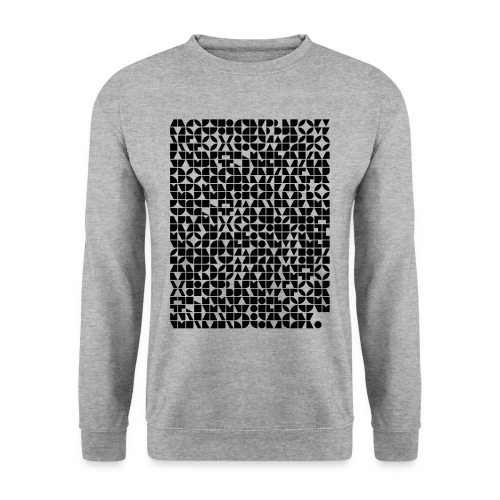abstract letter patterns by CMunk - Men's Sweatshirt