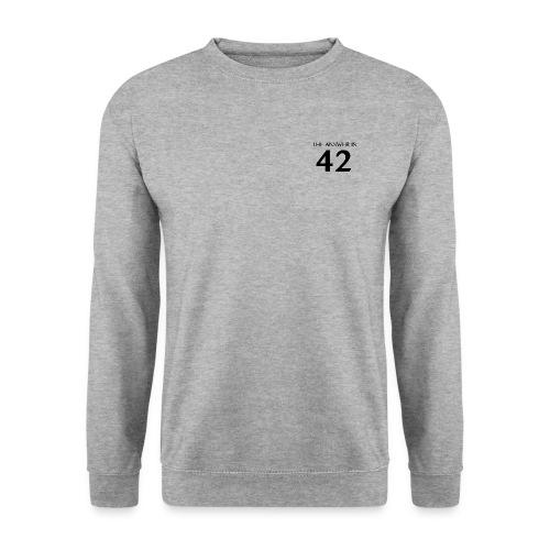 The Answer is 42 Black - Unisex Sweatshirt