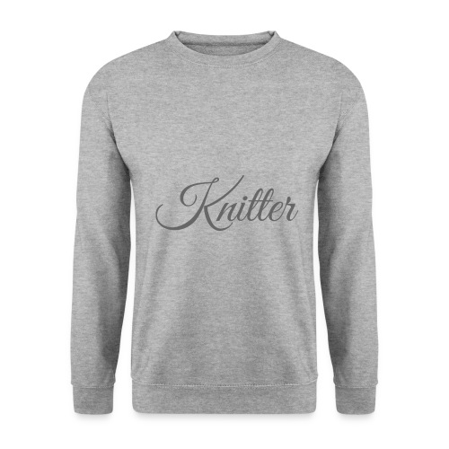 Knitter, dark gray - Men's Sweatshirt