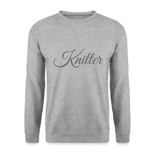 Knitter, dark gray - Unisex Sweatshirt