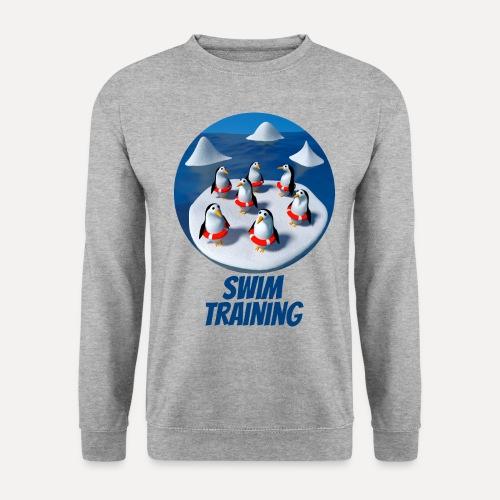 Pinguine beim Schwimmunterricht - Unisex Sweatshirt