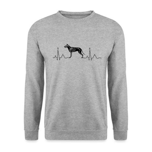 ECG met hond - Unisex sweater