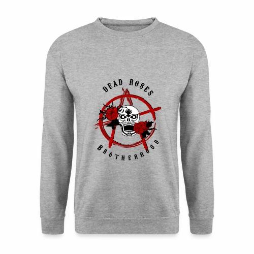 Dead Roses Anarchy Skull Black - Men's Sweatshirt
