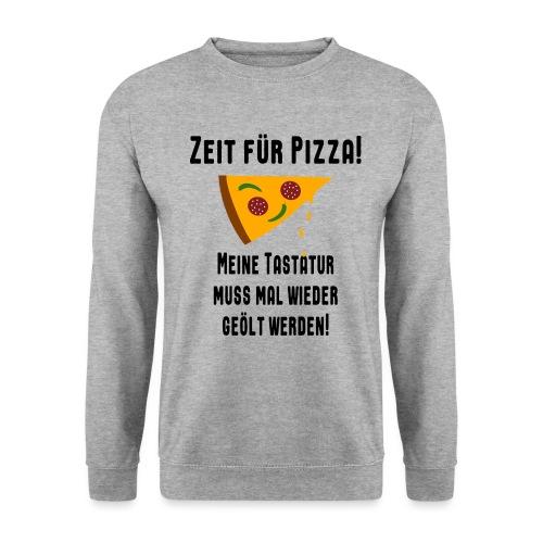 Pizza Essen Tastatur Computer Freak Nerd Spruch - Männer Pullover