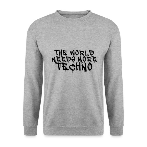 The world needs more Techno - Männer Pullover