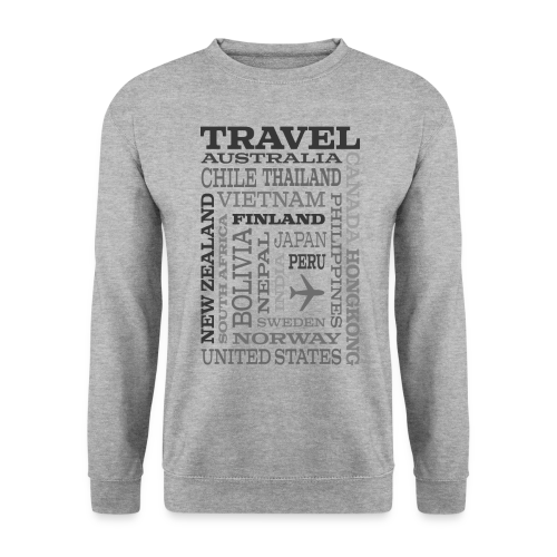 Travel Places Gray design - Miesten svetaripaita