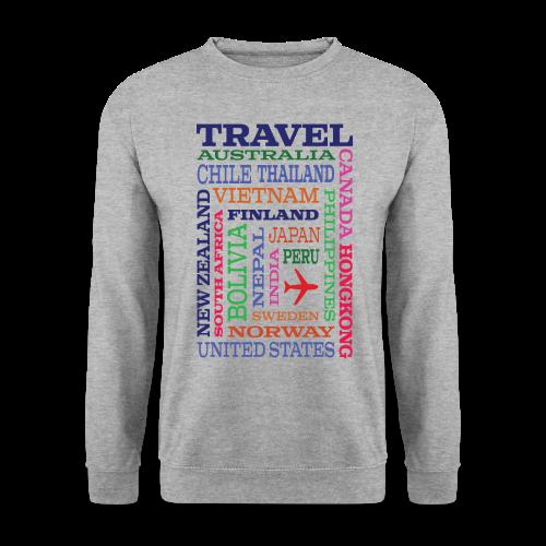 Travel Places design - Miesten svetaripaita