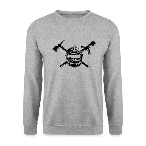 casque_pompier_hache et lance - Sweat-shirt Homme