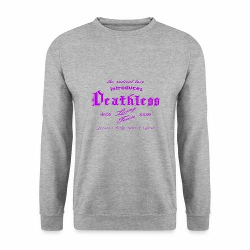 deathless living team violet - Männer Pullover
