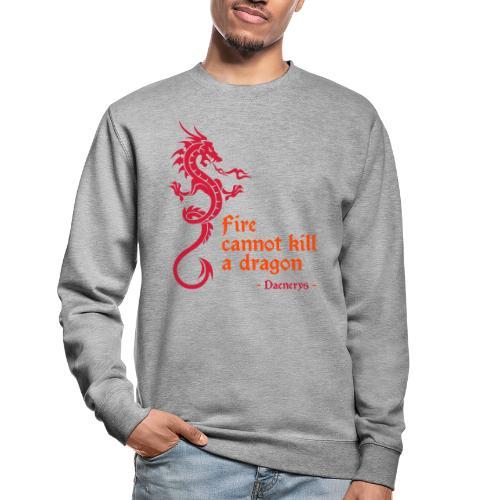 Fire cannot kill a dragon - Felpa unisex