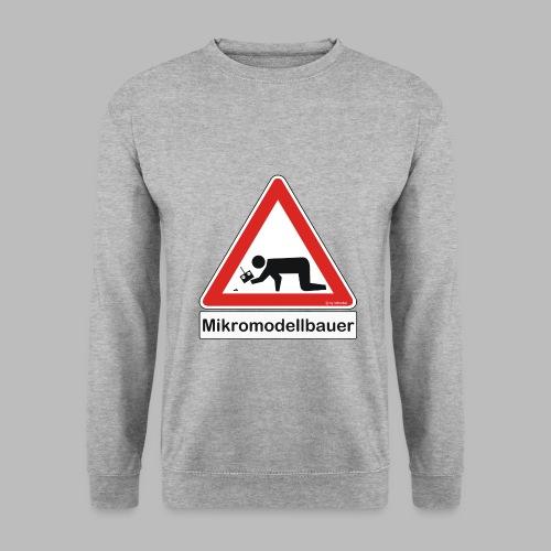 Warnschild Mikromodellbauer Auto - Männer Pullover