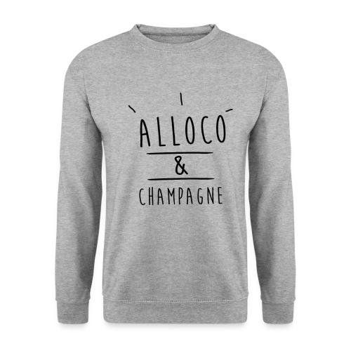 alloco et champagne noir png - Sweat-shirt Homme