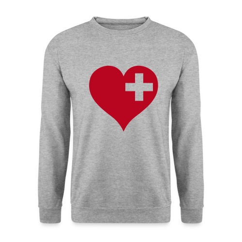 swiss heart red - Unisex Pullover
