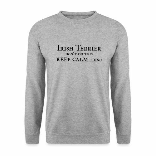 Irish Terrier keep calm - Männer Pullover