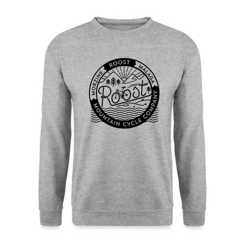 roost badge black no dots - Unisex Sweatshirt