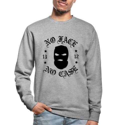 No Face, No Case - Skimask - musta iso printti - Unisex svetaripaita