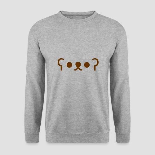 Kuma Kaomoji (Marron) - Sweat-shirt Homme