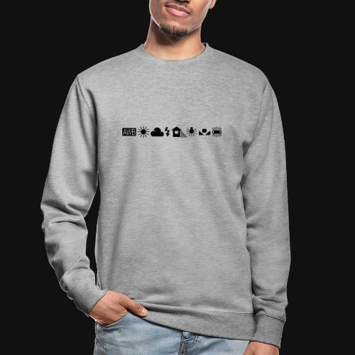 Weissabgleich Symbole Horizontal - Unisex Pullover