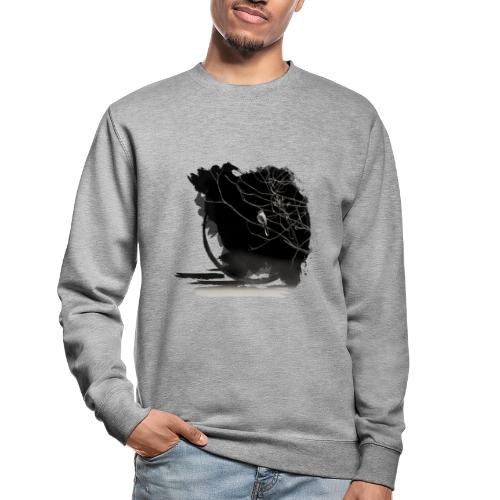 bird in zen circle above water bird on branch Zen - Unisex Sweatshirt