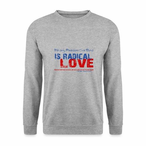 Radikale Liebe blue - Männer Pullover