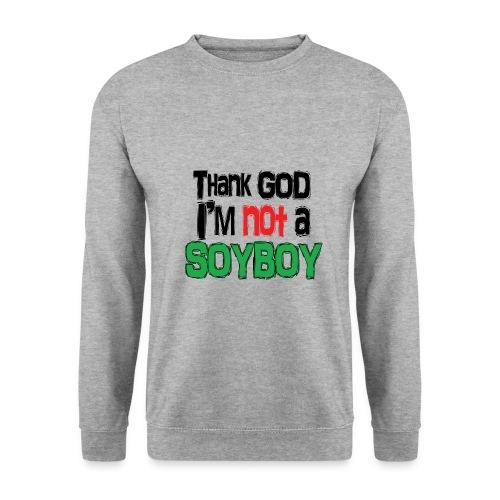 Thank God I'm NOT A SOYBOY black red green - Men's Sweatshirt