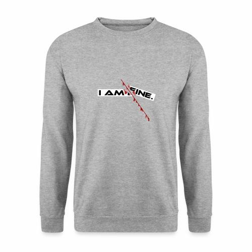 I AM FINE Design mit Schnitt, Depression, Cut - Männer Pullover