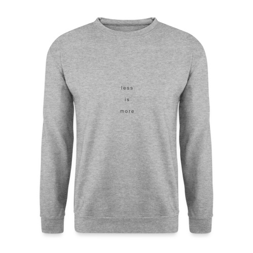 less is more + - Männer Pullover