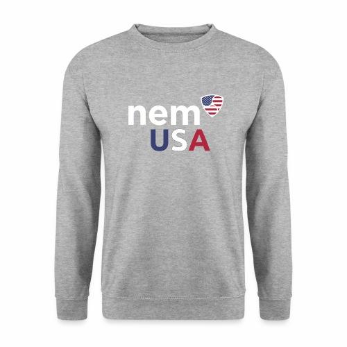 NEM USA white - Felpa unisex