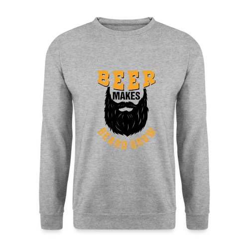 Beer Makes Beard Grow Funny Gift - Unisex Pullover