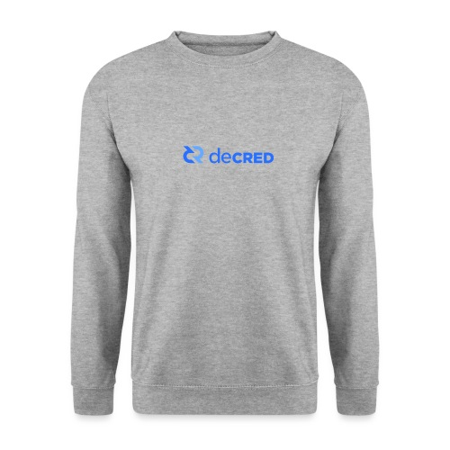 Decred logo horizontal blue - Unisex sweater
