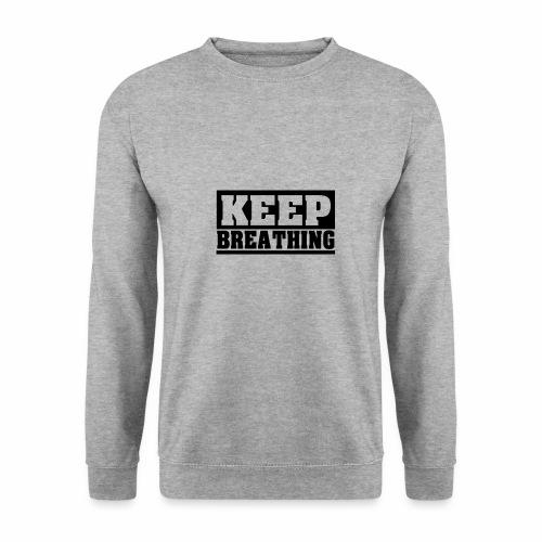 KEEP BREATHING Spruch, atme weiter, schlicht - Männer Pullover