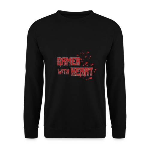Gamer with heart - Men's Sweatshirt