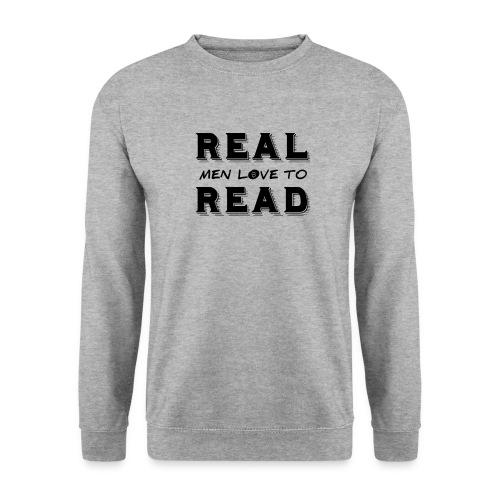 0162 Echte Kerle lieben das Lesen! | Bookrebels - Men's Sweatshirt