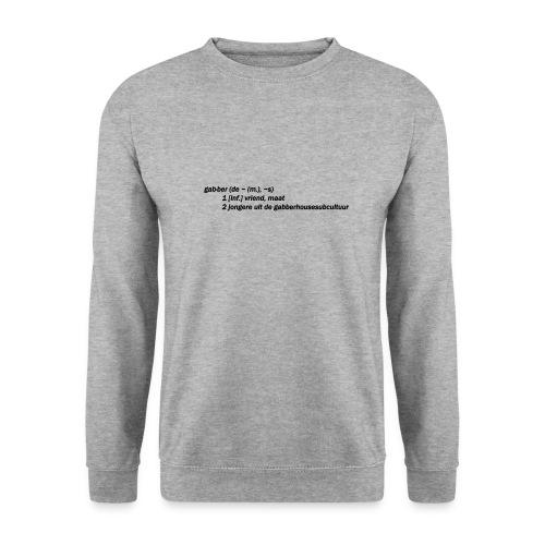 gabbers definitie - Unisex sweater