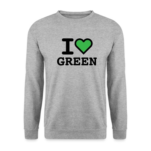 i-love-green-2.png - Felpa da uomo